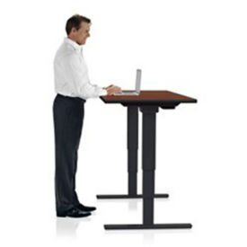 "Adjustable Height Sit Stand Desk - 24"" x 48"" , A11204"