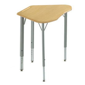 Adjustable Height Trapezoid Student Desk with Hard Plastic Top, J10087