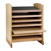 "Atlas Stand 5 Shelf Bookcase with Oak Finish 45""H, B34367"