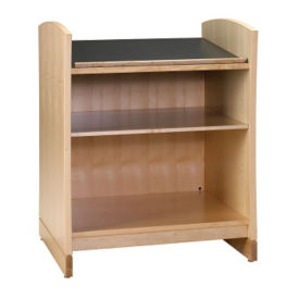"Dictionary Bookcase with Oak Finish 45""H, B34369"