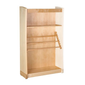 "Newspaper Bookcase Adder with Oak Finish 60""H, B34383"