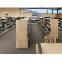"Double Sided Metal Shelf Bookcase Adder with Maple Side and Back 60""H, B34408"