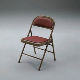 Folding Chair with Vinyl or Fabric Seat and Back, C57770