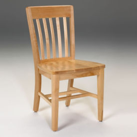 "Armless Wood Chair 18""H, C70431"