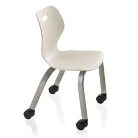"""Four Leg Student Chair with Casters - 18""""H for 5th Grade to Adult, C70479"""