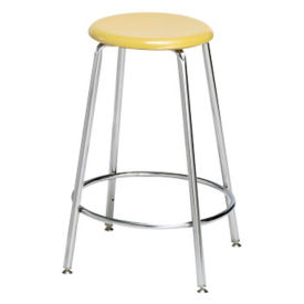 "Counter-Height Stool with Hard Plastic Seat - 24""H, C70488"