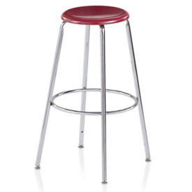 "Standing Height Stool with Hard Plastic Seat - 30""H, C70489"