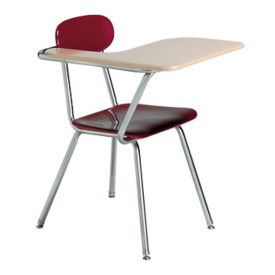 Student Chair with Right Tablet Arm and Book Basket, D30232