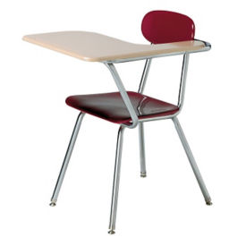 Student Chair with Left Tablet Arm and Book Basket, D30233