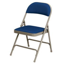 Folding Chair with Vinyl Seat and Back, D51136