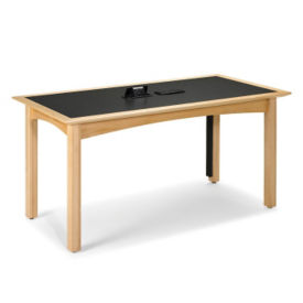 "Rectangle Table 42"" x 96"" in Maple Finish, T11373"