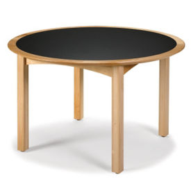 "Round Table 50"" Diameter in Oak Finish, T11382"