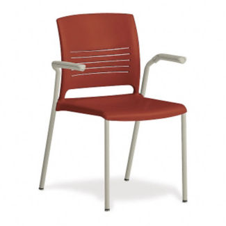 Flexible Back Stack Chair with Arms, C67734