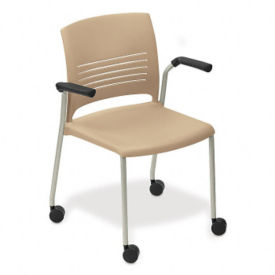 Mobile Stack Chair with Arms, C67736