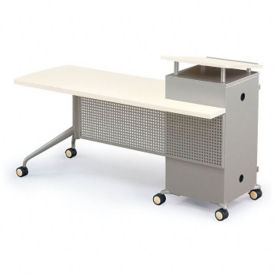 Mobile Instructors Desk with Right Lectern, J10017