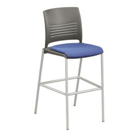 Cafe Stool with Fabric Seat, K00033