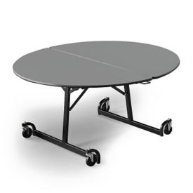 "60"" Round Folding Cafeteria Table with T-Leg, T11581"