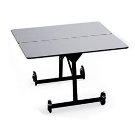 "48"" Square Folding Cafeteria Table with T-Leg, T11582"