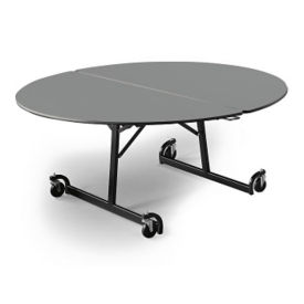 "Oval Folding Cafeteria Table with T-Leg – 66""W x 60""D, T11583"