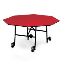 "Octagonal Folding Cafeteria Table with T-Leg – 60""W x 60""D, T11586"