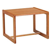 Wood Freestanding Corner Table, W60279
