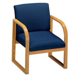 Fabric Sled Base Chair, C90022