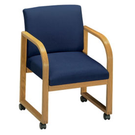 Fabric Sled Base Chair-Casters, C90023