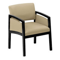 Oversized Fabric Guest Chair with Paneled Arm, W60722
