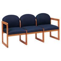 Fabric Round Back 3 Seat Sofa, W60273
