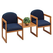 Fabric 2 Chairs with Center Table, W60274