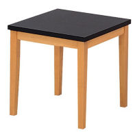 Wood Corner Table with Black Top, W60286