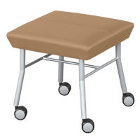 Vinyl Bench with Casters, W60481