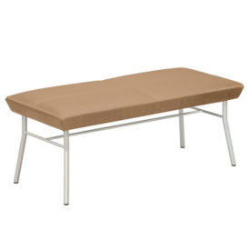 Uptown Two Seat Vinyl Bench, W60482