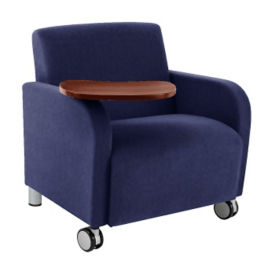 Oversized Tablet Arm Chair with Casters, W60706
