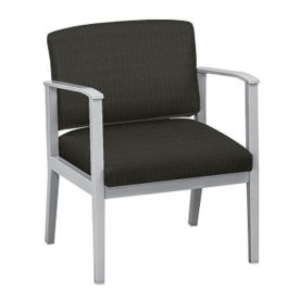 Fabric Oversized Guest Chair with Arms, W60831