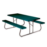 Foldable 6 ft Plastic Picnic Table, F10265