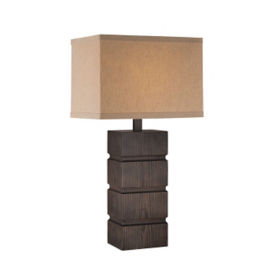 "Wood Table Lamp 28""H, V21104"