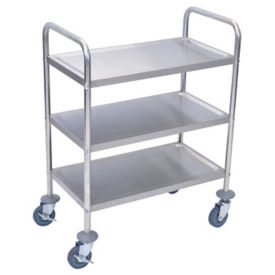 "Three Shelf Stainless Steel Cart - 16"" x 26"", B34480"