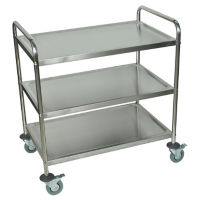"Three Shelf Stainless Steel Cart - 21"" x 33-1/2"", B34481"