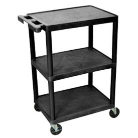 "Three Shelf Utility Cart - 18"" x 24"", B34484"