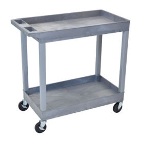 Two Shelf High Capacity Tub Cart in Gray, B34497