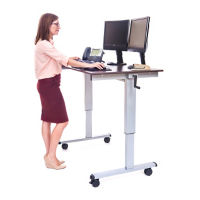 "Crank Adjustable Desk - 48""W, D30261"