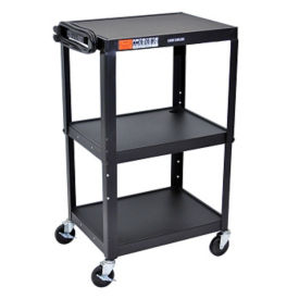 Adjustable Height AV Cart - Black, M10009
