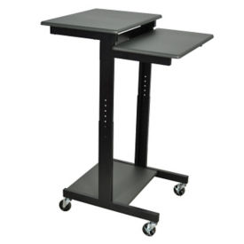 Mobile Adjustable Height Computer Workstation, E10237