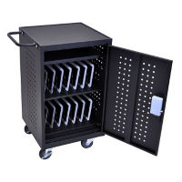 "30 Tablet/Chromebook Charging Cart with RFID locking system - 36.875"" H, E10238"