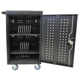 "30 Tablet/Chromebook Charging Cart - 36.75"" H, E10239"