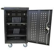 "30 Tablet/Chromebook Charging Cart - 36.75"" H, E10239"