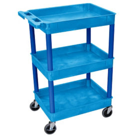 "Three Shelf Tub Cart - 36.5""H, M10002"