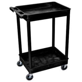 "Two Shelf Tub Cart in Black - 37.5""H, M10003"