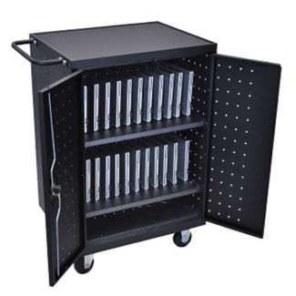 Lockable 24 Tablet Charging Cart, M10027